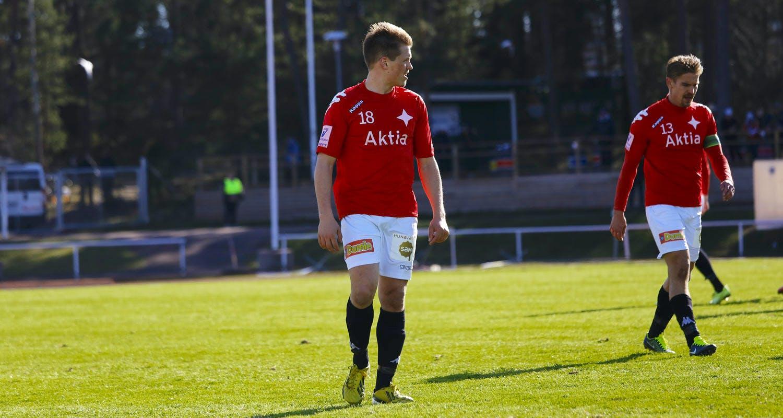 Matias Hänninen (#18) debytoi Veikkausliigassa IFK Mariehamnia vastaan. Hänninen valittiin viime kaudella IFK:n parhaaksi pelaajaksi.