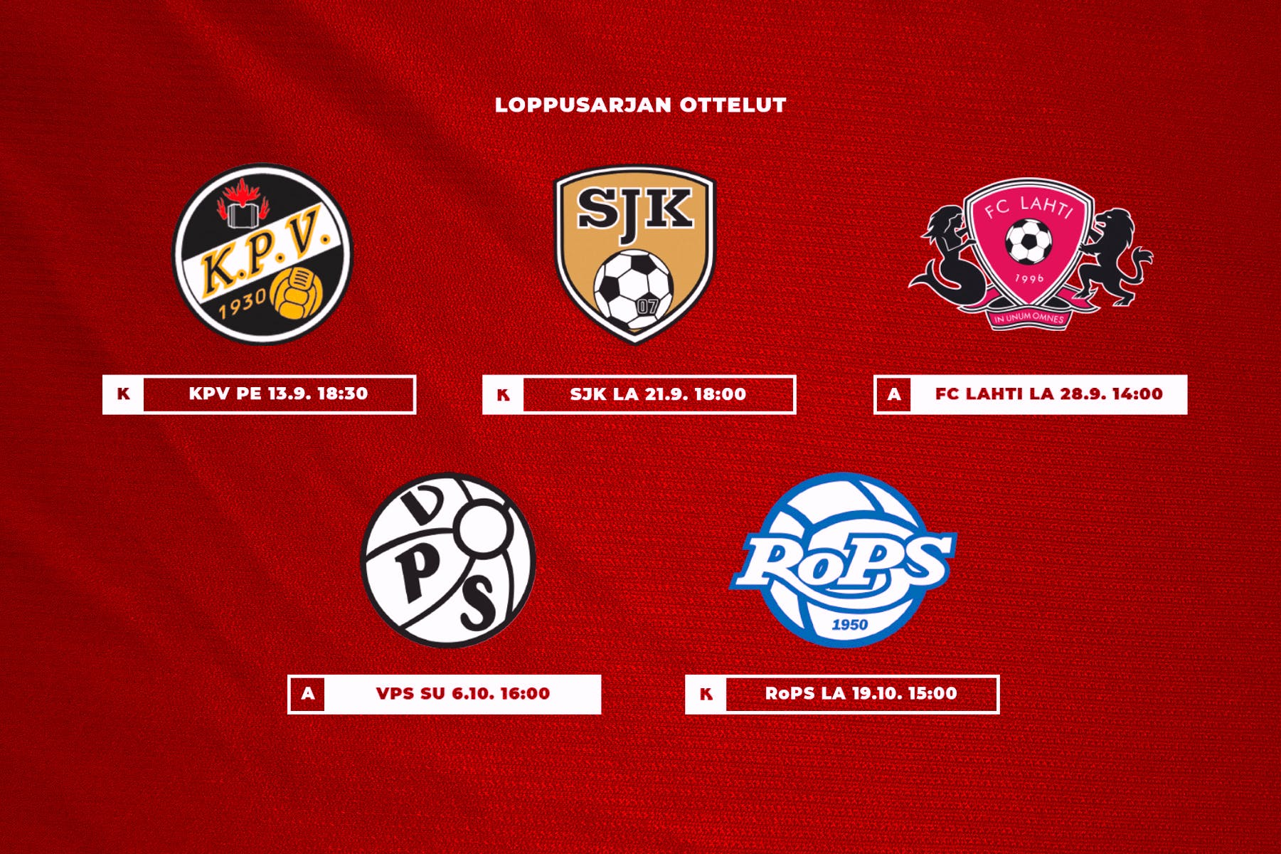 Matchprogrammet i utmanarserien klart – tre hemmamatcher för HIFK