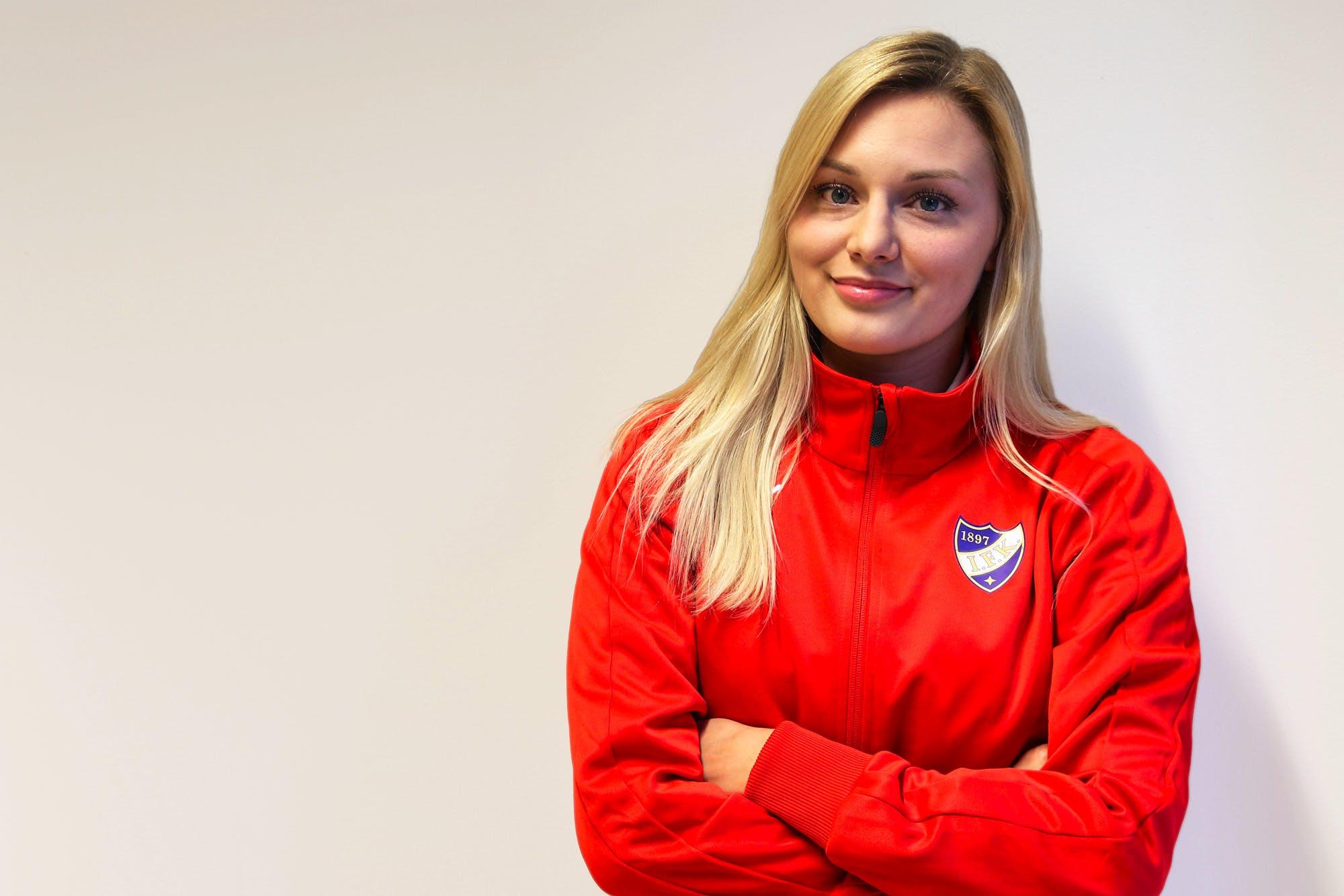 Emma Rantamaa är HIFK:s assistent inom sportverksamheten